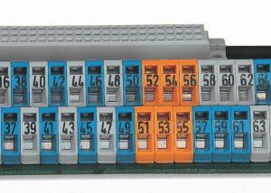 Серия 236: Клеммные колодки различных цветов с непосредственной печатью.