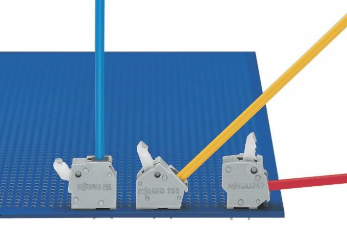 Направление ввода проводника. Серия 255 - 256 - 257